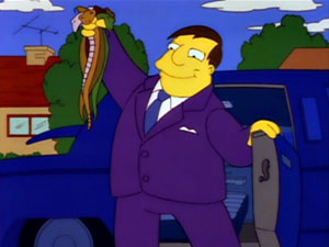 Quimby Snakes Simpsons Whacking Day