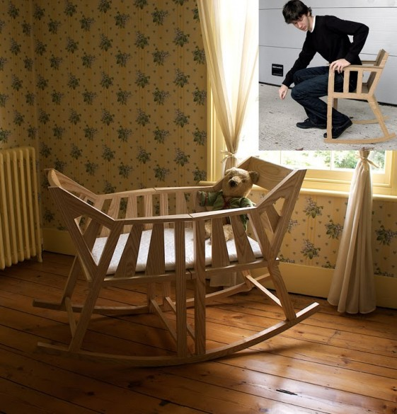 Fabulous Baby Cradle Rocking Chair The Kurtz Graphic Design Co Squirreltailoven Fun Painted Chair Ideas Images Squirreltailovenorg