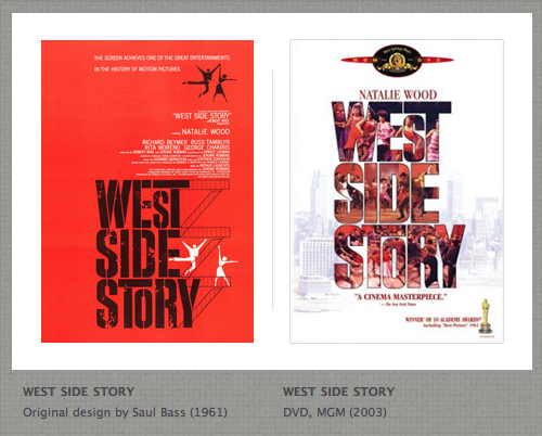 West Side Story Poster by Saul Bass then redesigned