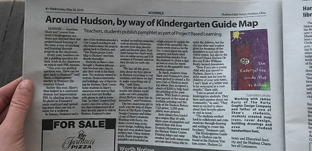The Kindergarten Guide Map to Hudson Newspaper Article by Hudson Hub Times