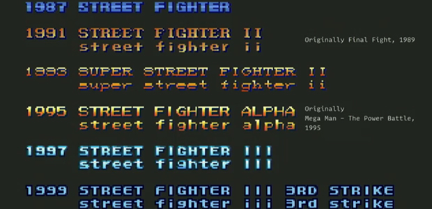 Street Fighter Retro Arcade Game Font