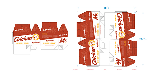 Packaging for Mr. Chicken Brand